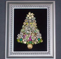 recycled jewelry Christmas tree