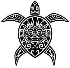 Maori design turtle tattoo