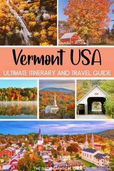 Thinking of getting away from it all in New England? This is the ultimate itinerary for a 7-10 day road trip in Vermont. This small state is a beautiful and secluded destination with stunning unspoiled scenery. Vermont has endless supply of quaint Colonial towns filled with white steepled churches, red barns, red covered bridges, and charming inns. Vermont also has a fantastic art and foodie scene, with farm to table restaurants. Vermont Road Trips | Vermont Destinations | What To Do In… Museum Guide, New England Travel, Red Barns, Covered Bridges, Fantastic Art, Culture Travel, Historical Sites, Amazing Nature, Vermont