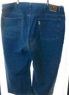 Mens Polo Ralph Lauren Denim Blue Jeans Pants Sz 40X24 RL Polo Jeans CO BIG&TALL #PoloJeansCo #BaggyLoose