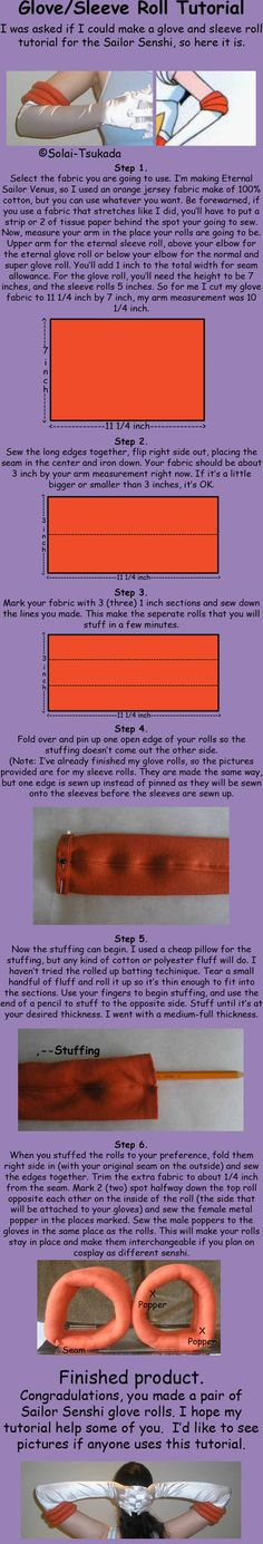 Glove and sleeve roll Tutorial by Solai-Tsukada
