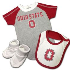 Baby Buckeye Creeper, Bib & Bootie Outfit #ohiostate #buckeyes #baby #toddler Ohio State Baby, Booties Outfit, Baby Sleepers, Print Logo, College Outfits, Baby & Toddler Clothing, Creepers, Baby Bodysuit, Sport Outfits