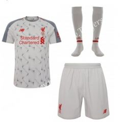 498d1857f Liverpool Away Gray Thailand Soccer Uniform With Socks