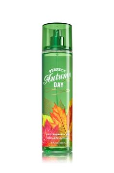 Perfect Autumn Day - Fine Fragrance Mist - Signature Collection - Bath & Body Works - Lavishly splash or lightly spritz your favorite fragrance, either way you'll fall in love at first mist! Our carefully crafted bottle and sophisticated pump delivers great coverage while conditioning aloe mist nourishes skin for the lightest, most refreshing way to fragrance!