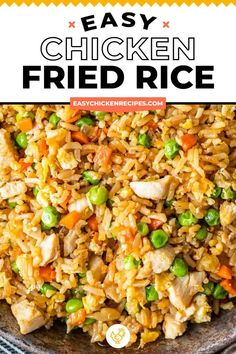 This authentic easy chicken fried rice recipe is just as good as takeout and super simple to make. Loaded with fresh veggies, healthy and full of flavor. Chicken Fried Rice Recipe Easy, Easy Rice Recipes, Chicken Recipes Video, Asian Recipes, Homemade Fried Rice, Chicken An Rice Recipes, Recipes With White Rice, Easy Fried Rice, Best Fried Rice Recipe