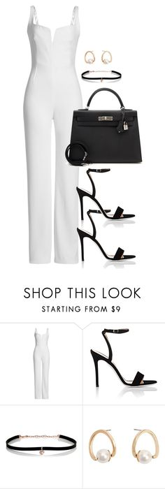 """""""Unbenannt #2302"""" by luckylynn-cdii ❤ liked on Polyvore featuring Galvan, Giuseppe Zanotti, Carbon & Hyde, MANGO and Hermès"""