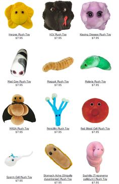 These would be great to have for a middle school science class to demonstrate the different types of bacteria/viruses