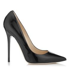 JIMMY CHOO Anouk Black Patent Leather Pointy Toe Pumps. #jimmychoo #shoes #s