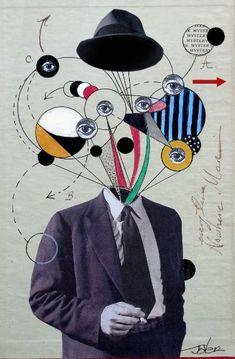 "Saatchi Art Artist LOUI JOVER; Collage, ""Mr Witness"" #art"