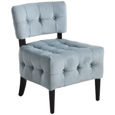 Pier 1 Imports > Catalog > Furniture & Living > Pier1ToGo Product Details - Fionn Chair - Blue Velvet