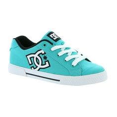 DC  Chelsea Skate Shoe ($55) ❤ liked on Polyvore featuring shoes, teal, teal shoes, skate shoes, dc shoes footwear and dc shoes