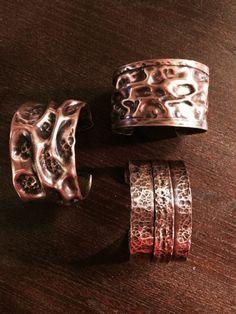 Three very lovely copper bracelelts