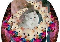 20-Oct-2013 14:45 - KLEDING VOOR KATTENLIEFHEBBERS. De echte die hard kattenliefhebber draagt die liefde natuurlijk graag uit via zijn of haar kleding. Daar zijn genoeg items voor de vinden, zodat je van top tot teen gestyled bent in kleding met je favoriete dier. Maar ook als je gewoon voor een keer een katachtige look wilt zit je goed; doe ons maar zo'n kattenbadpak! Je begint natuurlijk met een goede trui. Met kattenprint, uiteraard. Bron Bron Bron Maar met een katten T-shirt zit je...