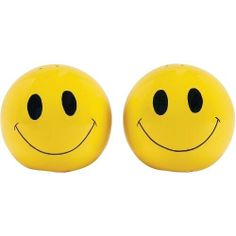 Boston Warehouse Happy Kitchen Yellow Earthenware Smiley Face Salt & Pepper Shaker Set by Boston Warehouse. $14.56. Features beautiful hand-painted detailing. Bright yellow smiley face design. Crafted of high quality earthenware. Wipe Clean. Bring sunny smiles to your dinner table with the Happy Kitchen collection by Boston Warehouse. This charming salt and pepper shaker set features bright yellow smiley faces with beautiful hand-painted detailing. Crafted of high-quality ear...