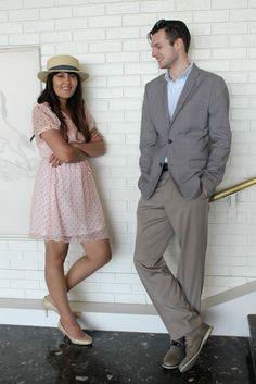 Dressing For The Derby and A Day At The Races: Ladies pink heart dress, Kentucky Derby hats; Mens spring blazer