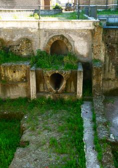 A very Roman-looking drain in ancient Rome. The Cloaca Maxima in the Roman Forum