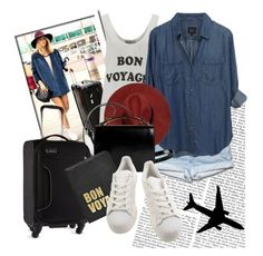 """""""Bon voyage"""" by gabygrach ❤ liked on Polyvore featuring Wildfox, Givenchy, Antler, Hayden-Harnett and adidas"""