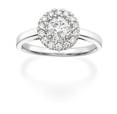 Tolkowsky Diamond Engagement Ring in 14K White Gold.  Available at www.Kay.com