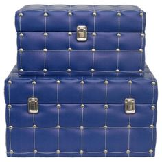 Pairing trunk-themed designs with faux leather quilted details, these wood storage boxes brim with sophisticated style.     Product: ...