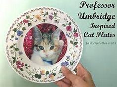 Image result for umbridge kitten plate craft
