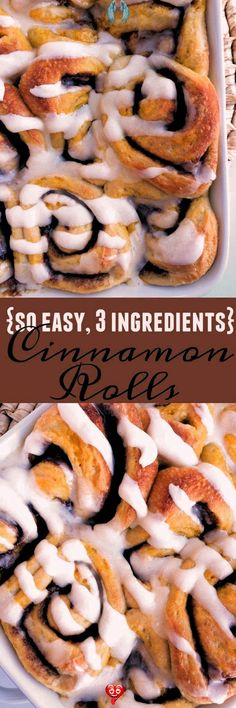3 Ingredient Cinnamon Rolls | Together as Family #Cinnamon #desserts easy 3 ingredients #desserts easy for a crowd #desserts easy healthy<br> Quick Dessert Recipes, Quick Easy Desserts, Quick Easy Meals, Healthy Desserts, Crockpot Recipes, Dog Food Recipes, Cake Recipes, Slow Cooker, Cinnamon Desserts