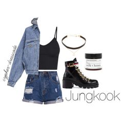 Can you do a themed/streetwear outfit with… – BTS Outfits – Outfit Ideas for Girls Egirl Fashion, Kpop Fashion Outfits, Edgy Outfits, Retro Outfits, Fresh Outfits, Cute Skirt Outfits, Cute Outfits With Jeans, Girls Designer Clothes, Bts Clothing