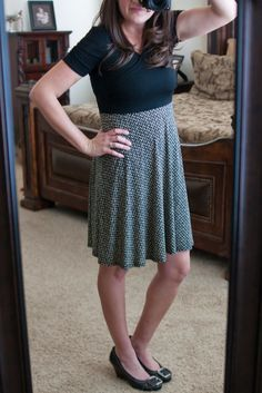 Stitch Fix Review {Fix #4} - Gilli Noemi Chevron Skirt Faux Wrap Dress (nursing friendly!) February/March 2015