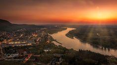 Hainburg an der Donau by gabriele-hartmann Beautiful Landscapes, Sunsets, Sunrise, Travel Photography, River, Explore, Places, Nature, Outdoor