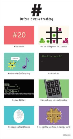 Before it was a # hashtag #infografia #infographi