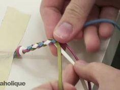 ▶ How to Make a Four Strand Round Braid