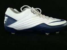 f7891326e73e7a NIKE SUPER SPEED Football Cleats Size 13 Blue White 396238-141  Nike Super  Speed