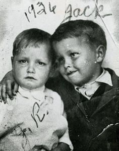 Johnny Cash and his older brother, Jack, in 1936. The Cash boys grew up in the Dyess Colony in Arkansas and Johnny started picking cotton at age five.