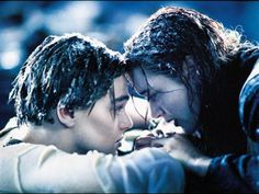 Scene of the Rose and Jack after Titanic died.