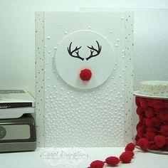 Stampin' Up! Wonderland stamp set, Minimalist Rudolph card