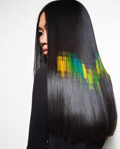 pixelated hair by @phildoeshair....obsessed. See this Instagram photo by @phildoeshair • 1,364 likes