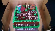 Minecraft cake, buttercream