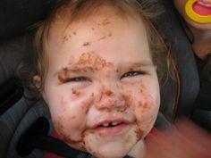 Who gave my baby a chocolate bar?!