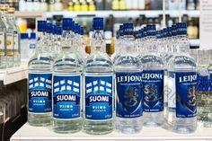 Suomi viina - brännvin ... Leijona viina - brännvin - taatusti suomalainen ... #viina #alkoholi #mainos Wine And Beer, Finland, Liquor, Water Bottle, Album, Drinks, Oc, Drinking, Alcohol