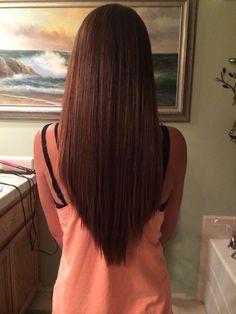 """Модная стрижка """"лисий хвост"""" на длинные волосы"""
