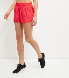 Bright Pink Woven Chevron Print Sports Shorts  | New Look