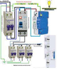 Esquemas eléctricos: protector de sobretensiones