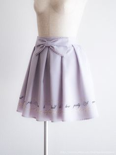 Ank Rouge🎀Spring Bow Lavender Skirt Japan M Romantic Lolita Hime D120 Free Shipping #Ank_Rouge