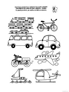 Co kde jezdi Coloring Pages, Education, Comics, Words, Geography, October, Quote Coloring Pages, Kids Coloring, Cartoons