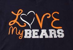 LOVE My BEARS - What time do you love? Use heat transfer materials and a heat press to make yours.
