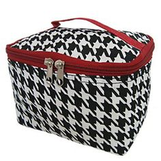 World Traveler Red Houndstooth Cosmetic Makeup Case ** Review more details here : Travel cosmetic bag