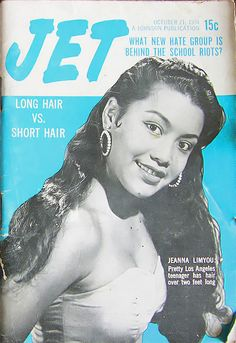Jeanna Limyou on the cover of Jet Magazine October 21, 1954