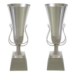 Pair of Silver Urn Style Table Lamps by Tommi Parzinger | From a unique collection of antique and modern table lamps at http://www.1stdibs.com/furniture/lighting/table-lamps/