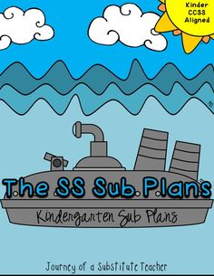 Kinder Sub plans CCSS aligned$