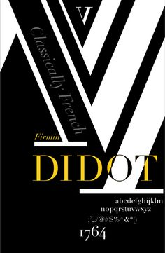 Typography poster. Classically French Firmin Didot
