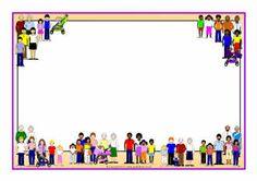 Families A4 page borders (SB4784) - SparkleBox